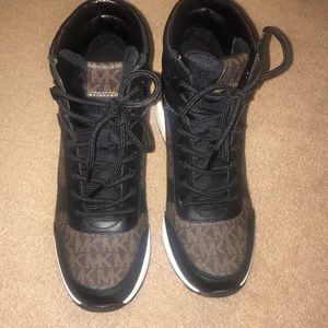 Michael Kors boots with MK logo